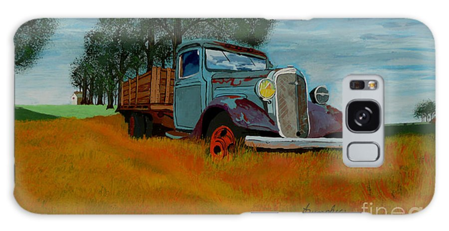 Truck Galaxy S8 Case featuring the painting Out To Pasture by Anthony Dunphy