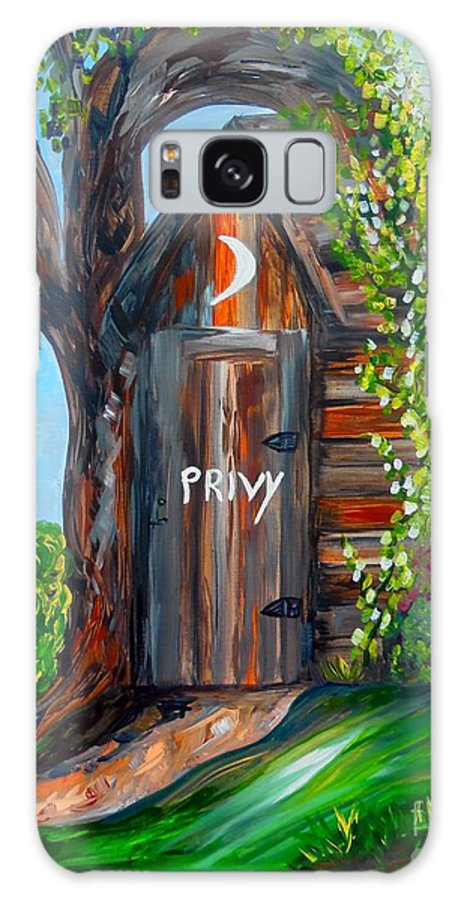 Out House Galaxy S8 Case featuring the painting Outhouse - Privy - The Old Out House by Eloise Schneider Mote