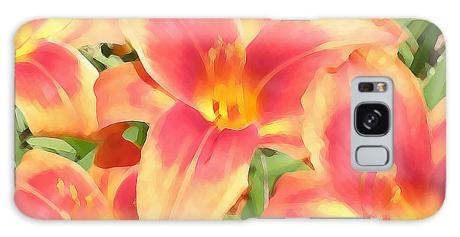 Lilies Galaxy S8 Case featuring the photograph Outrageous Lilies by Jean Hall