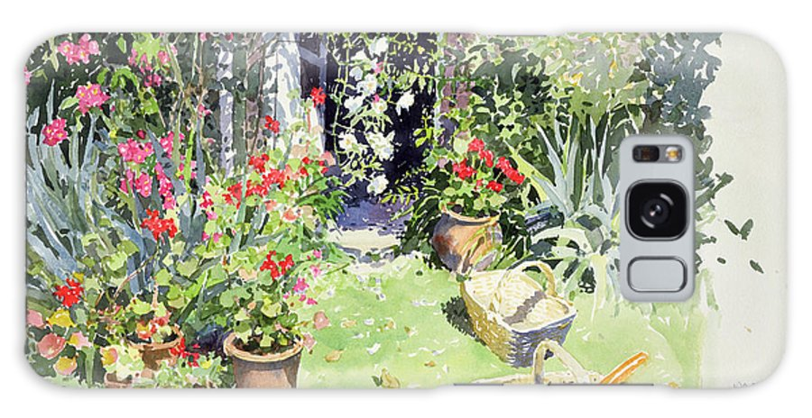 Garden Galaxy S8 Case featuring the photograph Outside Looking In, 1991 Wc On Paper by Lucy Willis