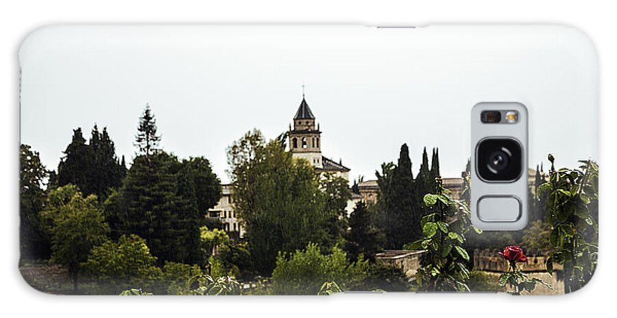 Alhambra Galaxy S8 Case featuring the photograph Overlooking The Alhambra On A Rainy Day - Granada - Spain by Madeline Ellis