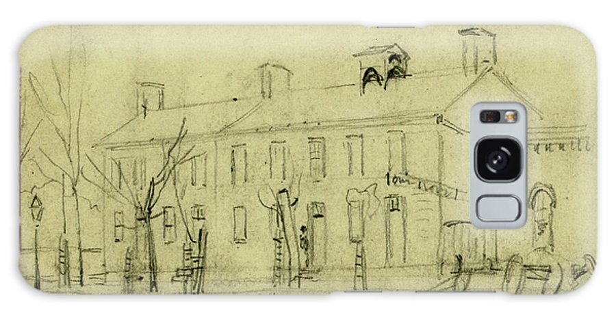 Owen House Galaxy S8 Case featuring the drawing Owen House, 1860-1865, Drawing On Cream Paper Pencil by Quint Lox
