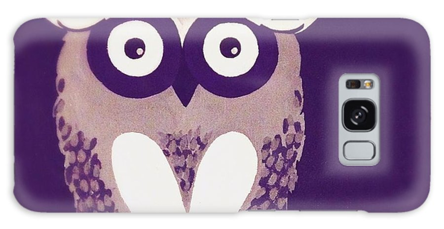 Owl Galaxy S8 Case featuring the painting Owl 1 by Sarah Jane Thompson