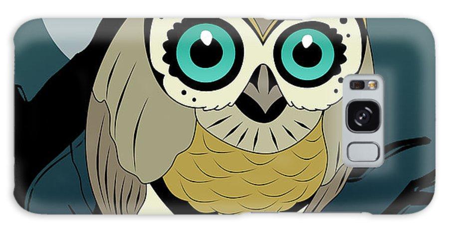 Owl Galaxy S8 Case featuring the digital art Owl 3 by Mark Ashkenazi