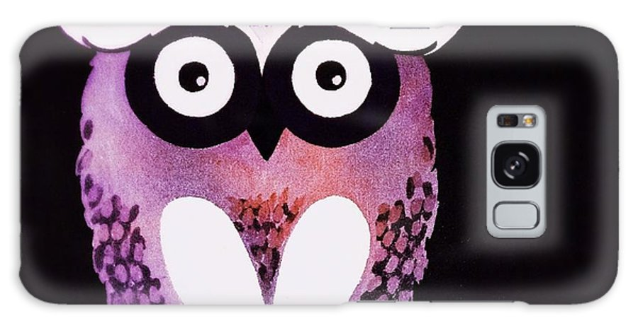 Owl Galaxy S8 Case featuring the painting Owl 3 by Sarah Jane Thompson