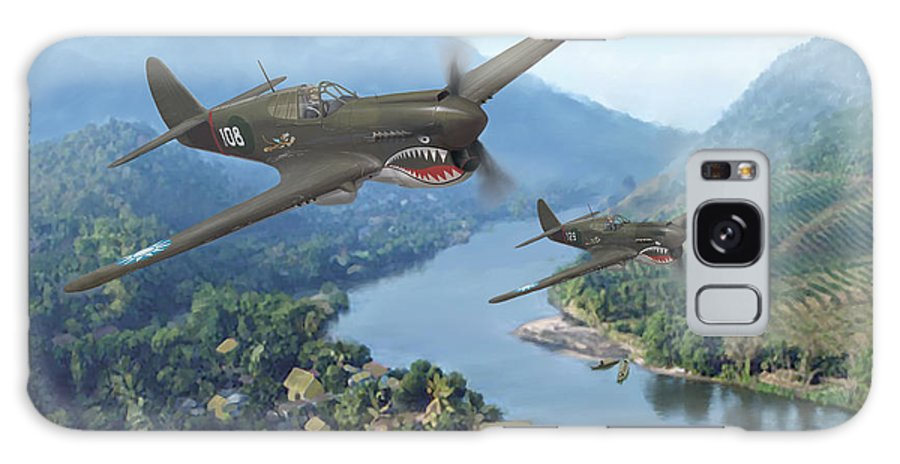 Airplanes Galaxy Case featuring the painting P-40 Warhawks Of The 23rd Fg by Mark Karvon