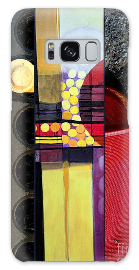 Triptych Galaxy S8 Case featuring the painting p HOTography 83 by Marlene Burns