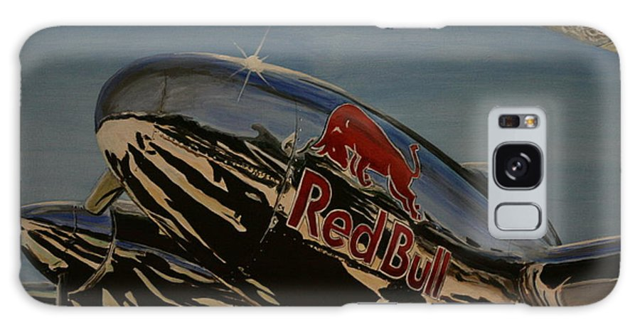 Warbirds Galaxy S8 Case featuring the painting P38 Red Bull Lightning Warbird by Richard John Holden RA