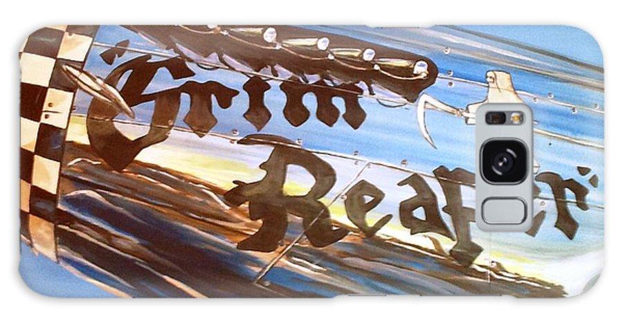 Warbird Galaxy S8 Case featuring the painting P51 Mustang Grim Reaper Warbird by Richard John Holden RA