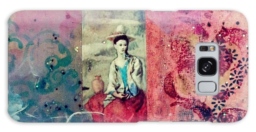 Pablo Picasso And Frida Kahlo Galaxy S8 Case featuring the mixed media Pablo And Frida's Day Dream by Melinda Jones