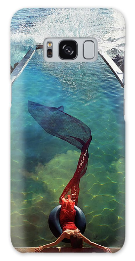 Human Arm Galaxy Case featuring the photograph Pacific Islander Woman In Mermaid by Colin Anderson Productions Pty Ltd