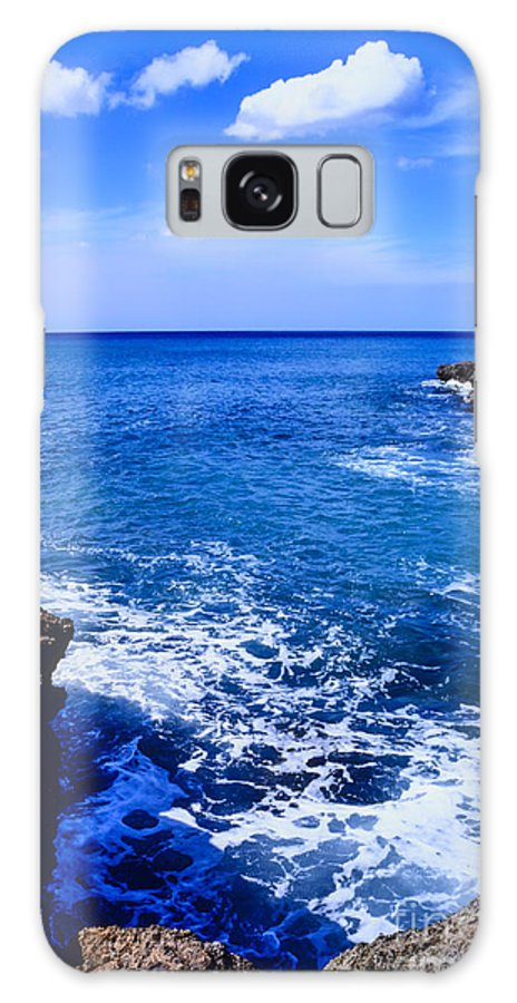 Cove Beach Galaxy S8 Case featuring the photograph Pacific Ocean And Lava by Thomas R Fletcher