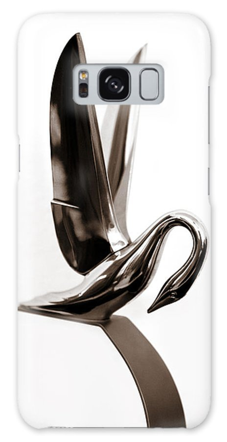 1940s 1950s Galaxy S8 Case featuring the photograph Packard Swan Hood Ornament 1 by Marilyn Hunt