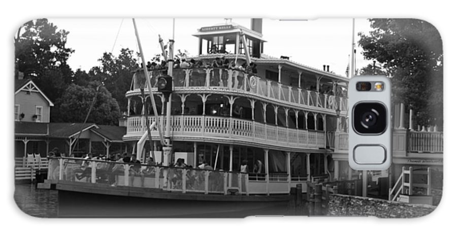 Black And White Galaxy S8 Case featuring the photograph Paddle Boat Black And White Walt Disney World by Thomas Woolworth