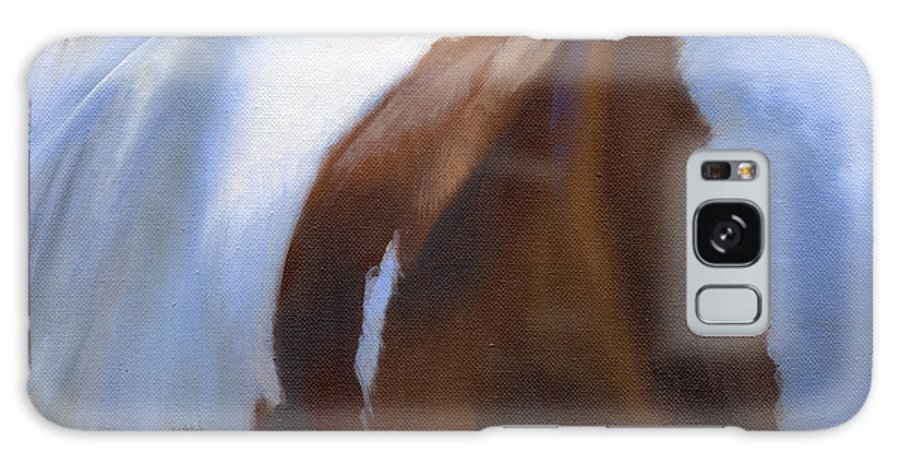 Horse Galaxy S8 Case featuring the painting Paint Landscape by Alecia Underhill