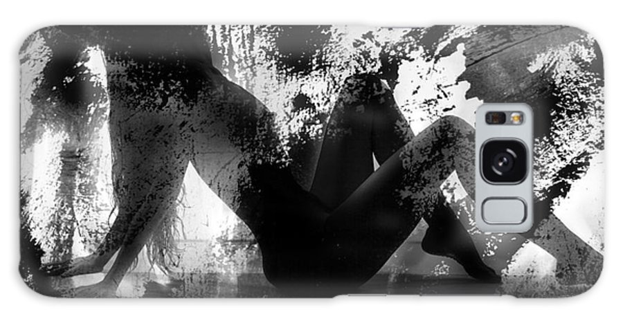 Silhouette Galaxy S8 Case featuring the photograph Paint Over Nude Silhouette by Kendree Miller