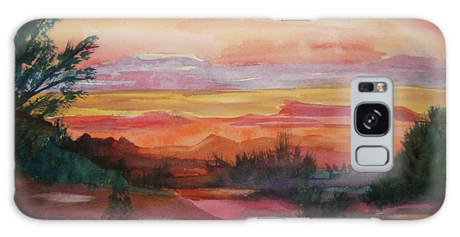 Southwest Galaxy S8 Case featuring the painting Painted Desert II by Ellen Levinson