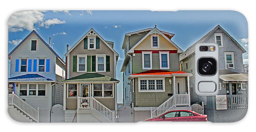 Painted Ladies Galaxy S8 Case featuring the photograph Painted Ladies Of Somers Point by Tom Gari Gallery-Three-Photography