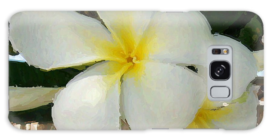 Galaxy S8 Case featuring the photograph Painted Plumeria by DM Photography- Dan Mongosa