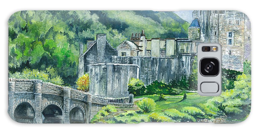 Castle Galaxy S8 Case featuring the painting Eilean Donan Medieval Castle Scotland by Carol Wisniewski