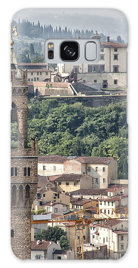 Architecture Galaxy S8 Case featuring the photograph Palazzo Vecchio Tower And Forte Belvedere by Melany Sarafis