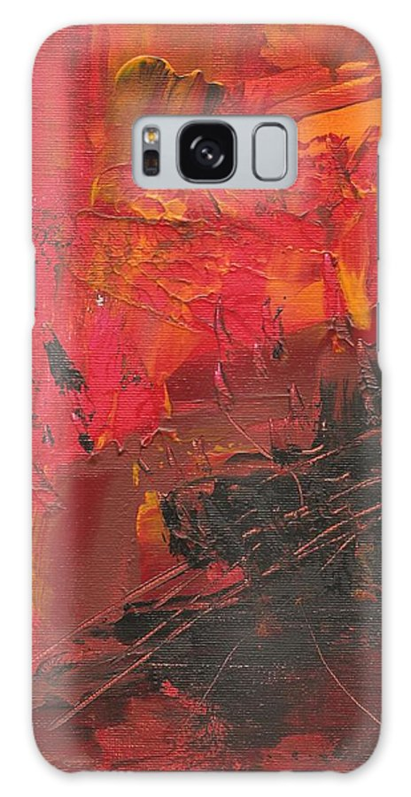 Abstract Galaxy S8 Case featuring the painting Palette Knife Series 02 by Ronda Stephens