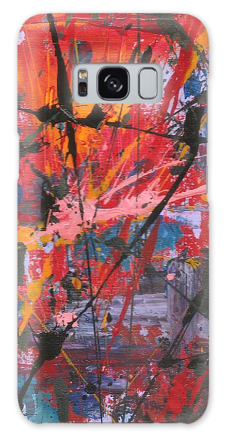 Abstract Galaxy S8 Case featuring the painting Palette Knife Series 03 by Ronda Stephens