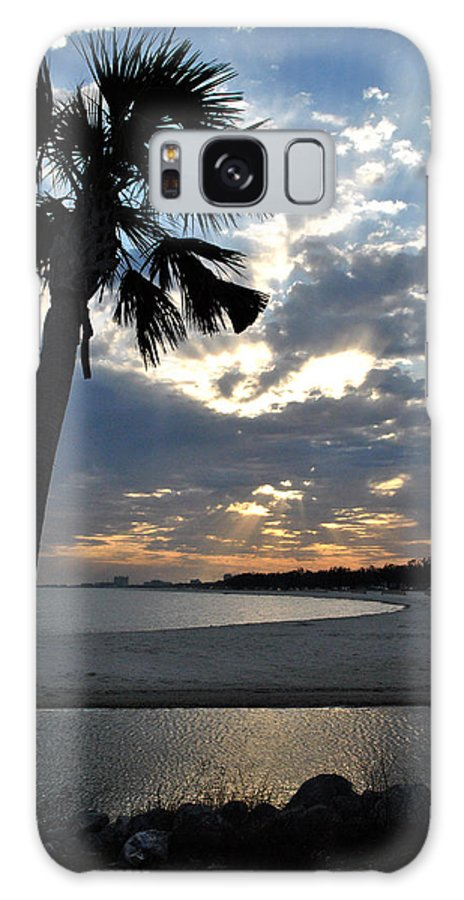 Beach Galaxy S8 Case featuring the photograph Palm And Sky by George Taylor