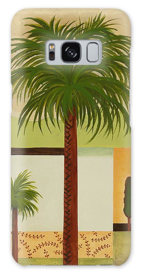 Palm Trees Galaxy S8 Case featuring the painting Palm Desert by Carol Sabo