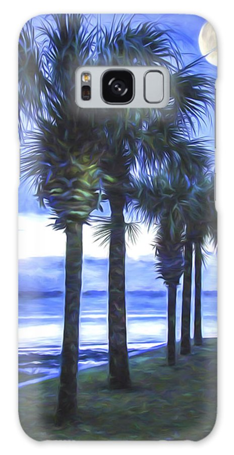 Trees Galaxy S8 Case featuring the digital art Palm Trees by Darlene Freas