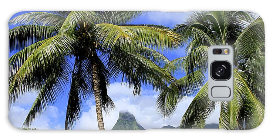 Tahiti Galaxy S8 Case featuring the photograph Palms In Morrea by Sophal Benefield