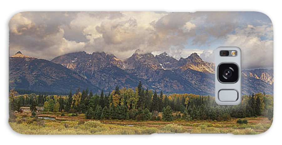 North America Galaxy S8 Case featuring the photograph Panaroma Clearing Storm On A Fall Morning In Grand Tetons National Park by Dave Welling