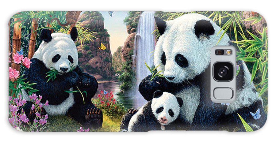 Steve Read Galaxy Case featuring the photograph Panda Valley by MGL Meiklejohn Graphics Licensing