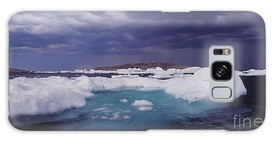 North America Galaxy S8 Case featuring the photograph Panorama Ice Floes In A Stormy Sea Wager Bay Canada by Dave Welling