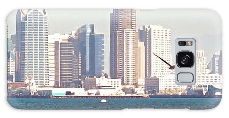 San Diego Harbor Galaxy S8 Case featuring the photograph Panoramic Image Of San Diego From The Harbor by Artist and Photographer Laura Wrede