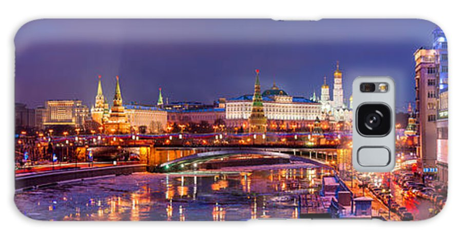 Russia Galaxy S8 Case featuring the photograph Panoramic View Of Moscow River And Moscow Kremlin - Featured 3 by Alexander Senin