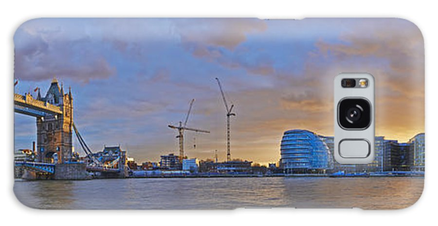 Brockwell Galaxy S8 Case featuring the photograph Panoramic View Of The Shard, City Hall by Adrian Brockwell