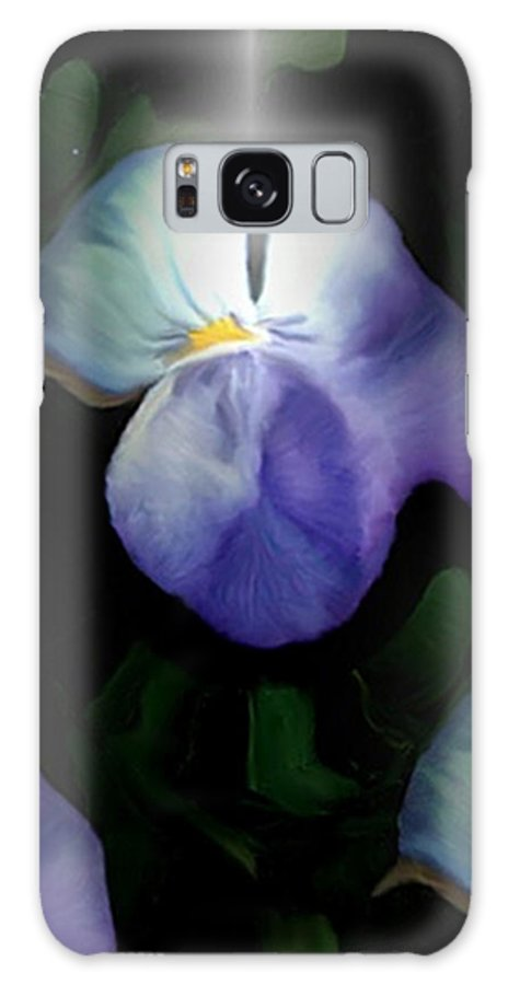 Pansy Galaxy S8 Case featuring the painting Pansies by Dennis Buckman