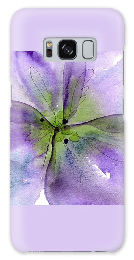 Watercolor Galaxy S8 Case featuring the painting Pansy 1 by Dawn Derman