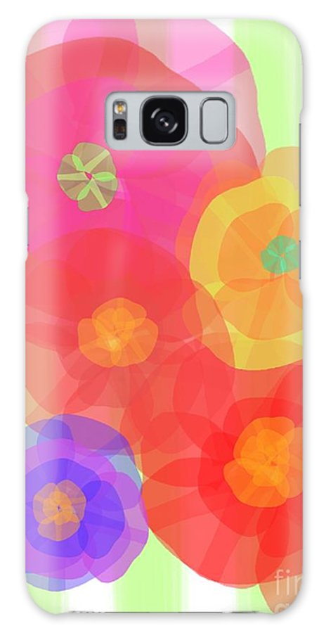 Abstract Galaxy S8 Case featuring the digital art Paper Flowers by Christine Fournier