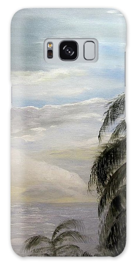 Oil Galaxy S8 Case featuring the painting Paradise Sky by Nancy Craig