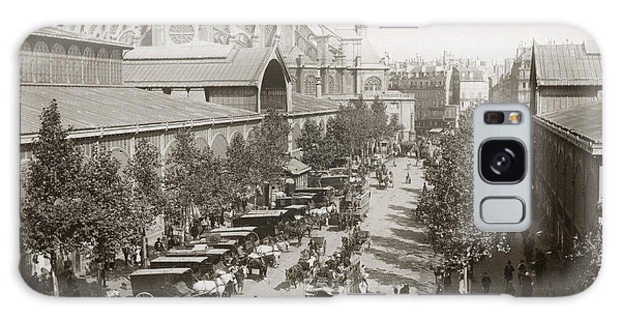 1890s Galaxy S8 Case featuring the photograph Paris: Les Halles, C1900 by Granger