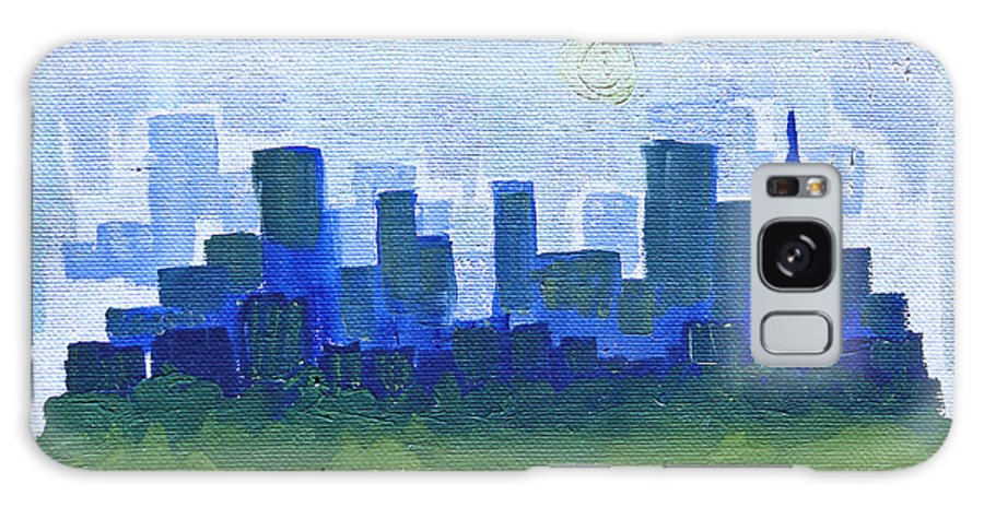 Skyline Galaxy S8 Case featuring the painting Park City Scape by Joseph Hawkins