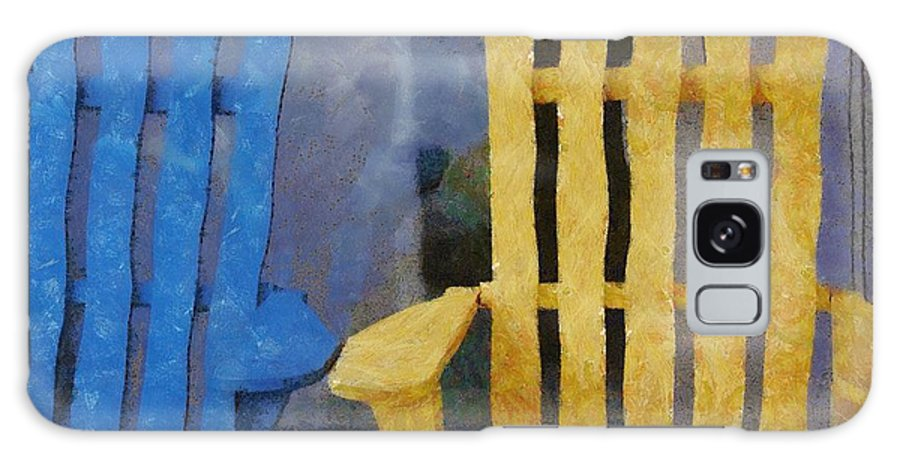 Chair Galaxy S8 Case featuring the painting Parking Spot by Jeffrey Kolker