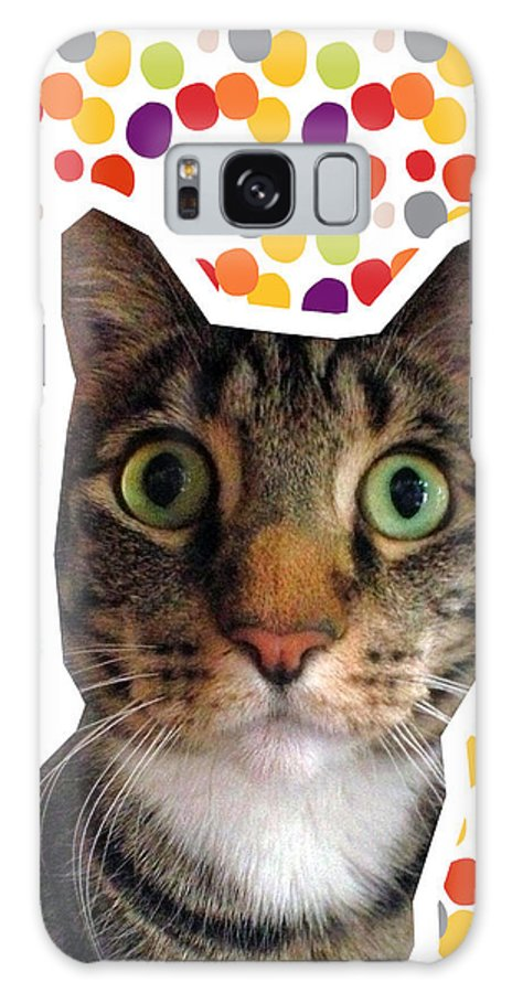 Cat Galaxy S8 Case featuring the photograph Party Animal - Smaller Cat With Confetti by Linda Woods
