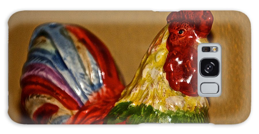 Red Galaxy S8 Case featuring the photograph Party Chicken by Susan Herber