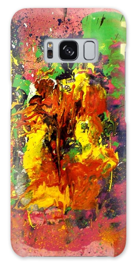 Party Galaxy S8 Case featuring the painting Party by Ed Ciolina