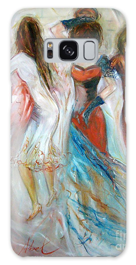 Contemporary Art Galaxy Case featuring the painting Party Time by Silvana Abel
