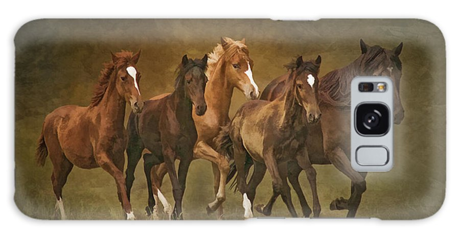 Horses Galaxy S8 Case featuring the photograph Paso Peruvians by Priscilla Burgers
