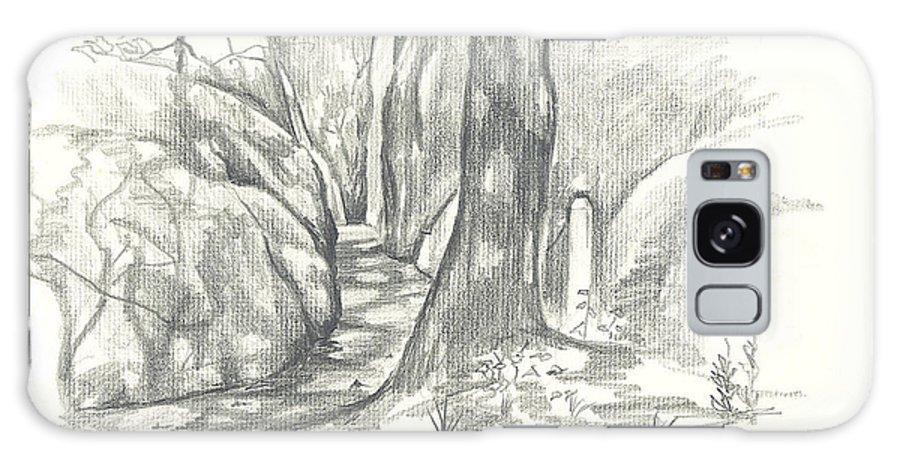 Passageway At Elephant Rocks Galaxy S8 Case featuring the drawing Passageway At Elephant Rocks by Kip DeVore